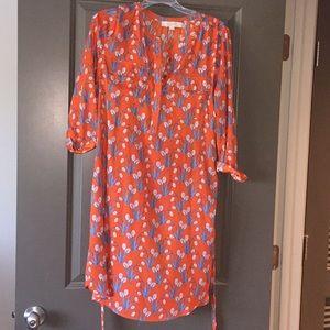 EUC Loft tulip print dress
